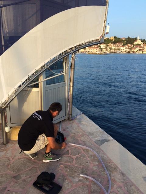 Radovi na morskoj sondi Rogoznica